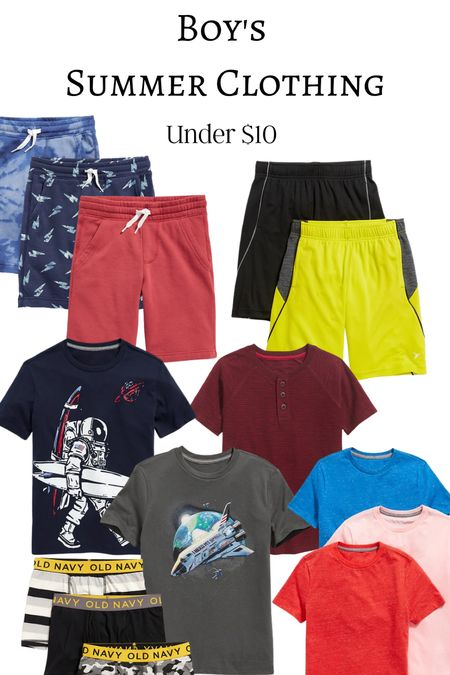 Old navy boys summer clothing with some 35% extra off and less than $10 a piece.   #LTKkids #LTKfamily #LTKunder50