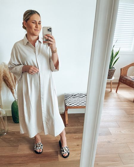 Such a stunning oversized shirt dress  It's breastfeeding friendly & so versatile. Can wear it during all 4 seasons. Great for layering.  Shop my daily looks by following me on the LIKEtoKNOW.it shopping app   @liketoknow.it #liketkit #LTKstyletip #LTKshoecrush http://liketk.it/3gvBO