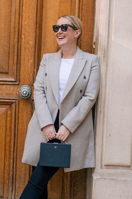 Plaid blazer coat from Club Monaco on sale   #LTKSeasonal #LTKsalealert