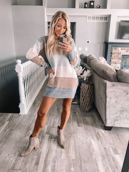 Start stocking up the sweater dresses for Fall! This one will sell out for sure.     #LTKstyletip #LTKSeasonal