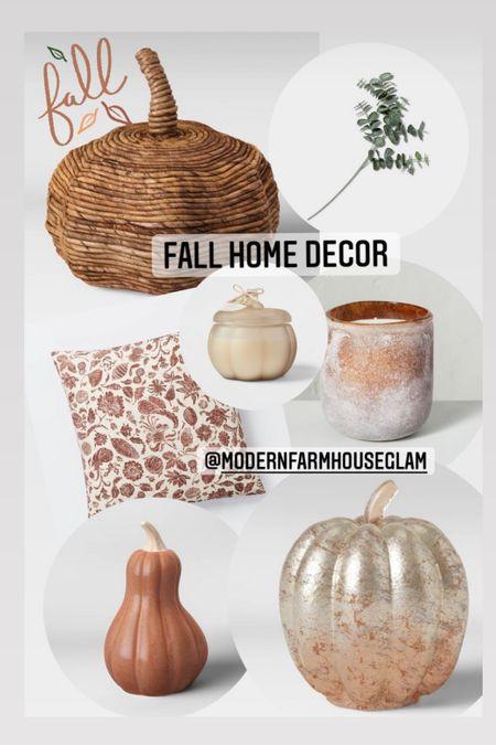 For home decor, glass Pumpkin, Texture or Pumpkin, fall pillow, fall candles, gourd, target fall Decor, ModernFarmhouseGlam  #LTKSeasonal #LTKhome #LTKHoliday