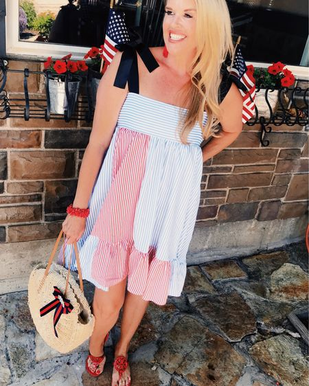 Red and white ♥️🇺🇸💙 4th of July  4th of July festive ♥️🇺🇸   You can instantly shop all my looks by following me on the @liketoknowit shopping app. Download the app to shop this pic via screenshot 🌸 link in bio👆🏻👆🏻👆🏻 http://liketk.it/2QZnF http://liketk.it/2QZo7 http://liketk.it/2QZoq #liketkit @liketoknow.it