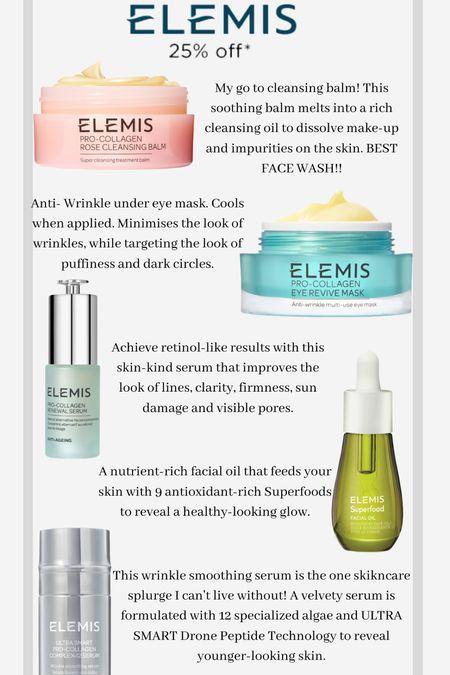 Elemis is my favorite skincare brand! My code MELISS20 is good after the sale for the month of June!   #LTKsalealert #LTKunder100 #LTKDay