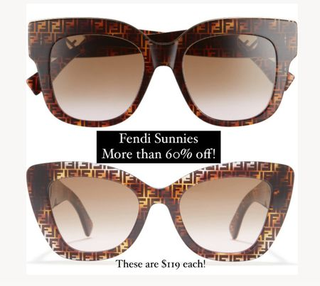 Fendi sunglasses on major sale !! More than 60% off. These are $119 each plus free shipping!   #LTKstyletip #LTKsalealert #LTKworkwear