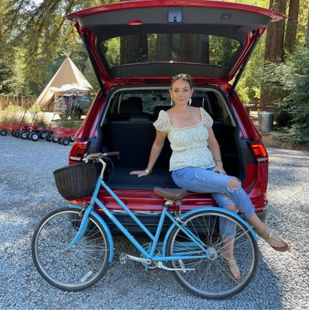 Cruising through the week in a Volkswagen Tiguan and a bike. #liketoknowit #outfitoftheday