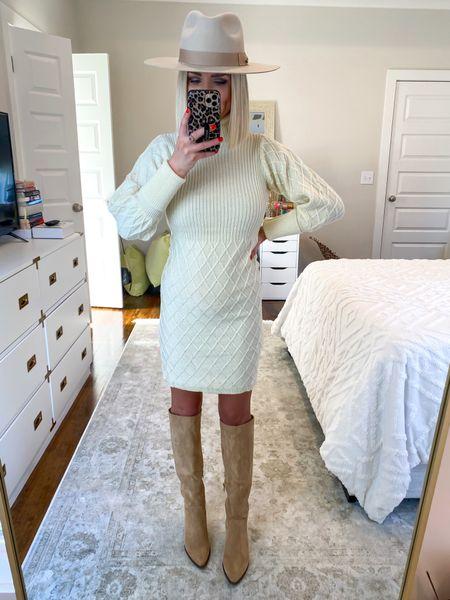 Sweater dress, knee high boots! Size: SM  #LTKSeasonal #LTKunder50 #LTKHoliday
