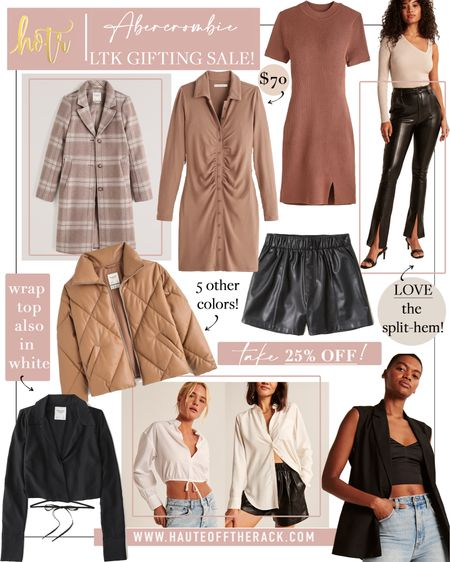 LTK gifting sale at Abercrombie!  #falloutfit #fallfashion #leatherpants #leathershorts #whitetop #pufferjacket #wintercoat #sweaterdress    #LTKSale #LTKGiftGuide #LTKHoliday