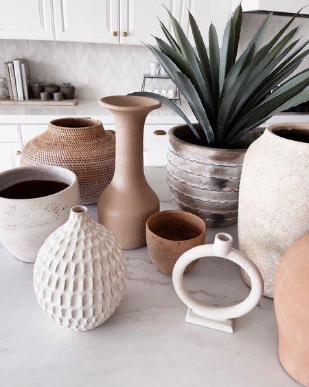 Vases, home decor, fall decor, stylinaylinhome