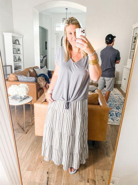 The most comfy and versatile maxi skirt ever! #loft #theloft #maxiskirt  #LTKsalealert #LTKunder50 #LTKworkwear