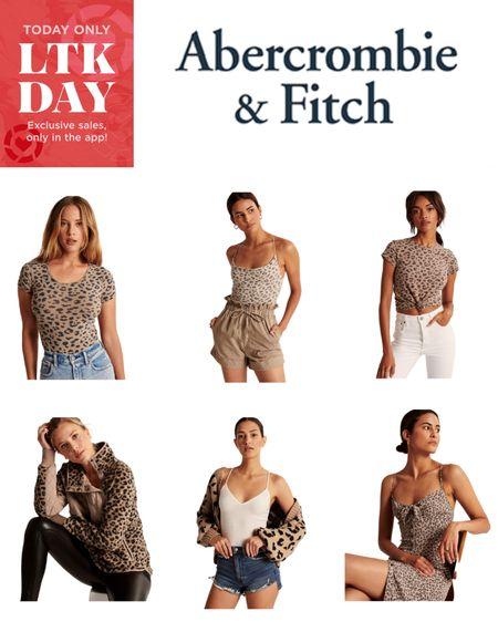 Abercrombie & Fitch 30% off with #LTKDay Promo Code 🎉  Leopard Bodysuit, Leopard Tank Top, Leopard Knotted T-Shirt, Leopard Pullover, Leopard Cardigan, Leopard Dress   http://liketk.it/2SK4D #liketkit @liketoknow.it #LTKsalealert #LTKunder100