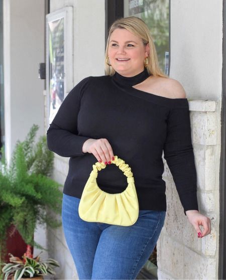 Amazon Lifestyle scrunched handle purse in yellow- comes in multiple fun colors. Butter soft!  #LTKcurves #LTKitbag #LTKunder100