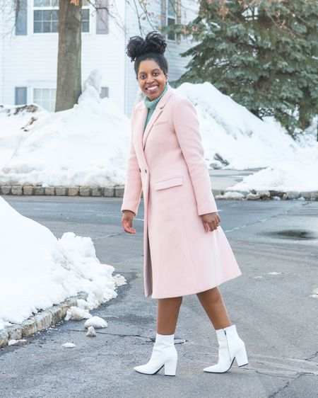 A pink coat and white boots are a great way to brighten up your cold weather looks! http://liketk.it/3akNz #liketkit @liketoknow.it #LTKSeasonal #LTKstyletip #LTKunder100