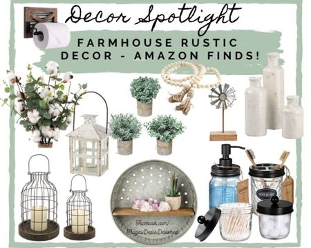 Time to spruce up that space for SPRING! We are all about farmhouse, rustic, greens, whites and eucalyptus!! Check out these best finds and best sellers on amazon! Easy 1,2,3 to  brighten up your living room, kitchen, dinning room, master bedroom, bathroom decor and spaces! Who loves greenery and lanterns?! Got those for you too! For wall art, shelving, bookcases, tiered trays and more! Check this post for all the inspiration you need! Make sure you follow us at FrugalDealsDelivered for more ideas, collages and inspiration!   Screenshot this pic to get shoppable product details with the LIKEtoKNOW.it shopping app http://liketk.it/395o8 #liketkit @liketoknow.it #LTKhome #LTKSeasonal @liketoknow.it.home #StayHomeWithLTK #ad