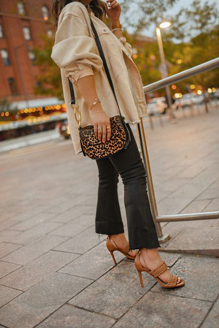 Loving this leopard bag! Sandals are so comfy and run true to size! 🐯🍂⚡️  #LTKitbag #LTKSeasonal #LTKshoecrush