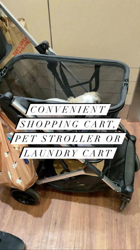 Joovy Boot - Convenient shopping cart, pet stroller or laundry cart. Our dog (@hi.ralphie) is a 15 pound Shih Tzu.   #LTKkids #LTKbaby #LTKfamily