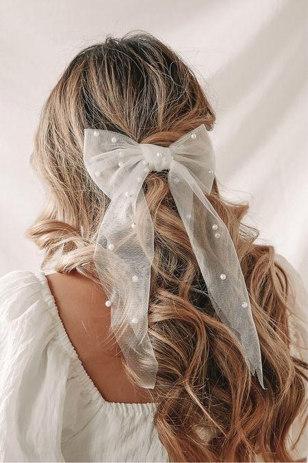 White pearl hair bow 🎀 Wedding hair 🤍 Lulus fashion finds! Click the products below to shop! Follow along @christinfenton for new looks & sales!@shop.ltk #liketkit 🥰 Thank you for shopping here with me! 🤍 XoX Christin  #LTKstyletip #LTKshoecrush #LTKcurves #LTKitbag #LTKsalealert #LTKwedding #LTKfit #LTKunder50 #LTKHoliday #LTKunder100 #LTKbeauty #LTKworkwear #LTKGifts