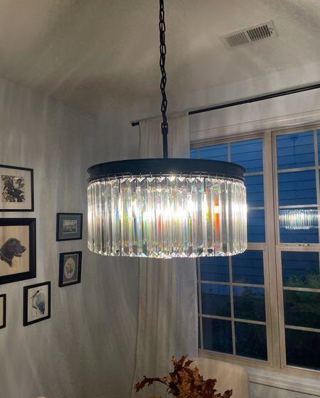 Crystal chandelier light fixture Wayfair   #LTKhome #LTKsalealert