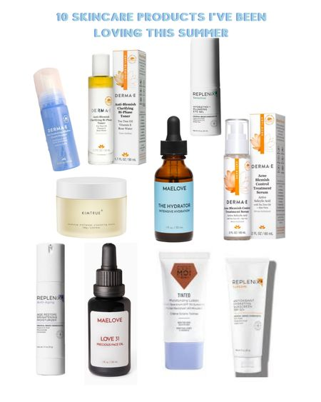 Anyone else feel like they need a separate suitcase just for skincare/beauty products? Here are 10 skincare products that I've been loving lately from start to finish: @Dermae ultra hydrating alkaline cloud cleanser @Dermae anti blemish clarifying bi phase toner @Dermae acne blemish control treatment serum @Replenix hydrating + plumping eye gel @Replenix age restore brightening moisturizer @MaeloveSkincare the hydrator intense hydration @MaeloveSkincare love31 precious face oil @CestMoiBeauty tinted moisturizing lotion SPF 30 in Cocoa @Replenix antioxidant hydrating sunscreen SPF 50+ http://liketk.it/3k748 @liketoknow.it #liketkit