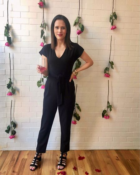 This is one of my favorite jumpsuits. It's from Express and it's so comfortable, chic, and versatile 🖤 I've worn it to work, to events, and on vacation! http://liketk.it/2OSmT #liketkit @liketoknow.it #StayHomeWithLTK #LTKunder100 #LTKsalealert #Jumpsuit #Workwear