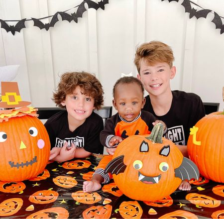 #ad We loved getting to work with @walmart this Halloween season! My kids have always loved carving and decorating pumpkins, so this year was a special treat with all the extra crafts! Even  Louie tried too! Her first Halloween! I'm linking the supplies and all products over @shop.LTK each of these items are  affordable and kid friendly, and ya'll the carving kit is a must!!   #LTKSeasonal #LTKkids #LTKGiftGuide