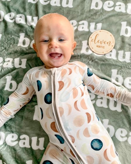 11 months in our most favorite bamboo viscose sleepers! Tagging some of the latest adorable prints here! Run now to grab their matching family holiday jammies!  #LTKkids #LTKunder50 #LTKbaby