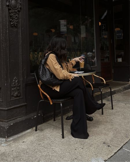 Fall with Neiman Marcus. Alice + Olivia pants, Veronica Beard Jacket, and Small Bottega Veneta Jodie