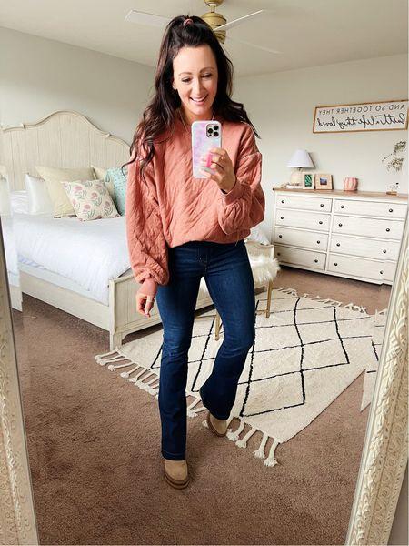 Comfiest quilted sweatshirt from Target - under $40 - true to size (in a medium)  #LTKSeasonal #LTKstyletip #LTKunder50