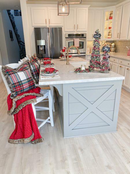 http://liketk.it/332Sb  Christmas Kitchen  Kitchen Decor  Holiday Kitchen Red Throw Blanket  Fur Trim Blanket  Tartan Plaid Pillows  Fur Trim Pillows White Ruffle Plates Melamine Plates  Farmhouse Kitchen  #LTKhome #LTKsalealert #LTKunder50 #liketkit @liketoknow.it.home   @liketoknow.it