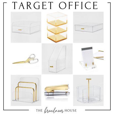 Target Home , Target Finds, office supplies, desk supplies, acrylic desk supplies, brass office, modern Decor, Modern office, home decor, Organization  #LTKsalealert #LTKhome #LTKunder50