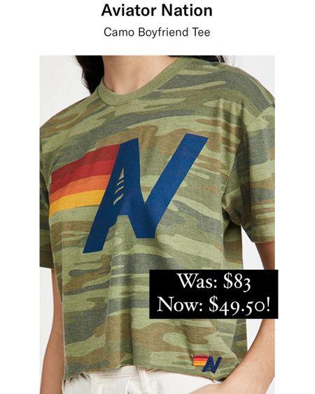 Aviator nation camp tee now on sale for $33 off!!! http://liketk.it/37CIs #liketkit @liketoknow.it #LTKunder50 #LTKunder100