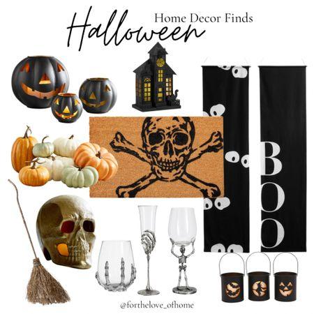 Fun Halloween finds! #skeleton #skull #pumpkin #jackolantern #drinkware #hostess #blackandwhite #potterybarn  #LTKhome #LTKSeasonal #LTKstyletip