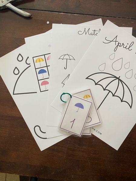 Rainy day flash cards   #LTKkids #LTKSeasonal #LTKfamily
