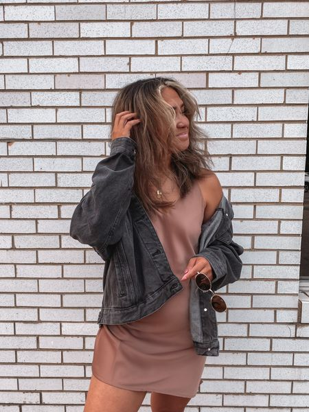 What's better than a satin mini dress?! They're perfect for all seasons and pair well with jeans jackets, flannels, and even animal print! http://liketk.it/2WKt8 #liketkit @liketoknow.it #LTKstyletip #LTKsalealert #LTKbeauty