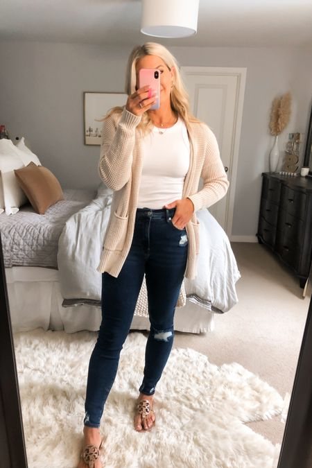 Good American Jeans. Size down. I'm in a 4 and usually a 6.   #LTKunder100 #LTKcurves #LTKstyletip