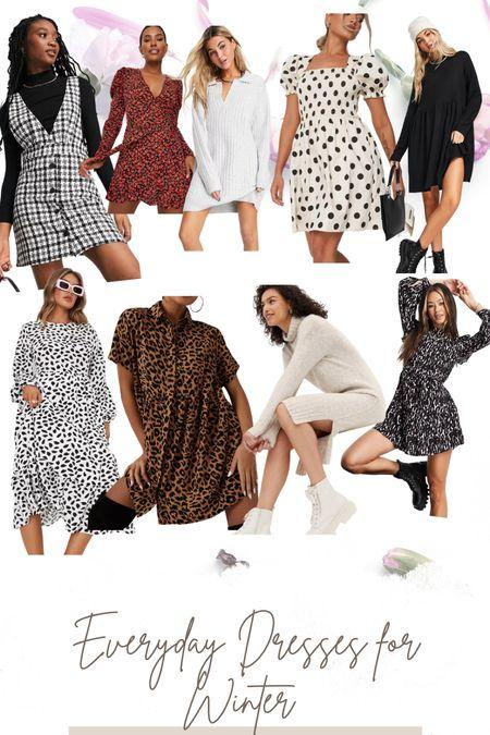 Everyday dresses for winter ❄️   #LTKSeasonal #LTKstyletip #LTKunder100