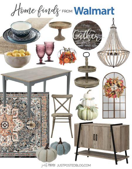 Fall finds for your dining room from Walmart   #LTKhome #LTKSeasonal #LTKunder50