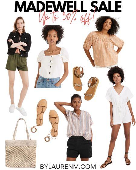 Madewell sale! Up to 30% off top picks! Pull on shorts, summer tops, sandals, the best beaded tote and romper! @madewell #madewell @liketoknow.it http://liketk.it/3hhW2 #liketkit #LTKsalealert #LTKunder100 #LTKunder50