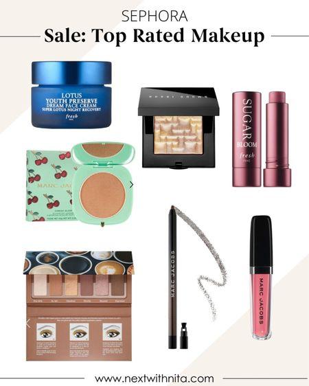 Highly rated Makeup and skincare on sale including night cream, highlighter, glitter eyeliner, natural eyeshadow palette, bronzer, and more.   #LTKbeauty #LTKsalealert #LTKSeasonal
