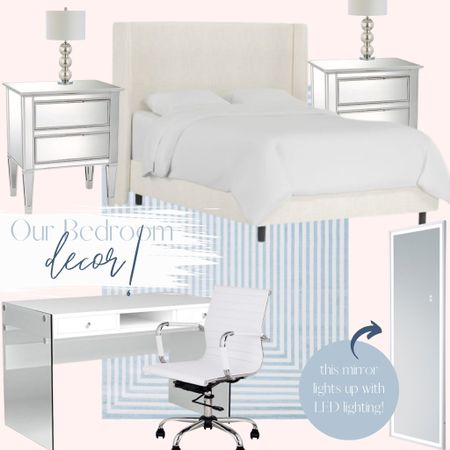 All of our master bedroom decor and furniture is linked here for you guys! Love the pinks, blues, and silvers in our room! #bedroom #masterbedroom #decor #homedecor  #LTKhome #LTKfamily #LTKstyletip