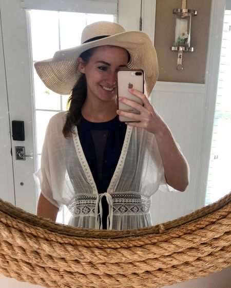 http://liketk.it/3fWij #liketkit @liketoknow.it Memorial Day, vacation outfit, swim dress, tie front cover up