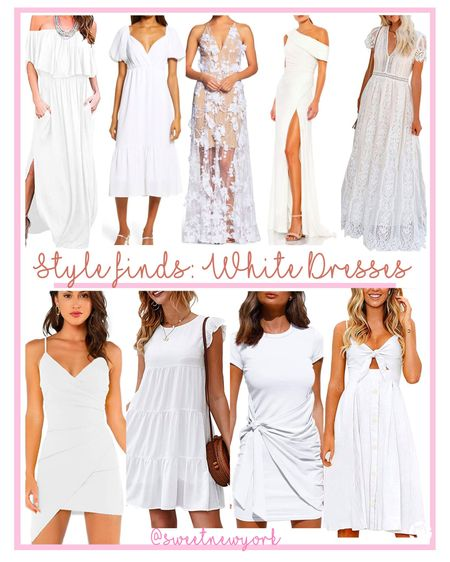 Summer style finds pretty white dresses for the bride to be http://liketk.it/3jVkH #liketkit @liketoknow.it #LTKwedding #LTKstyletip #LTKunder100