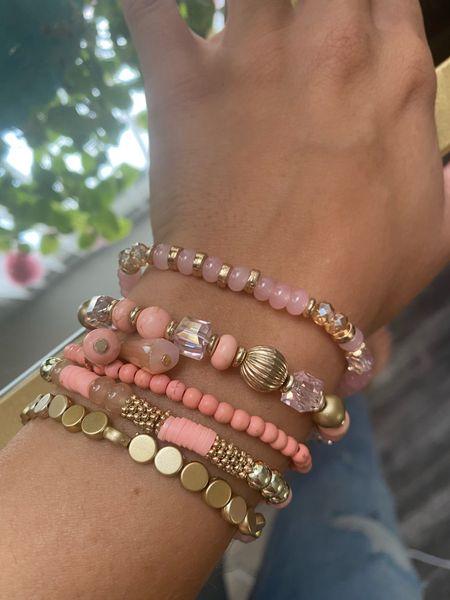 Stacked bracelet set only $14 Amazon fashion   #LTKsalealert #LTKunder50 #LTKstyletip