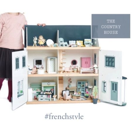 The perfect dollhouse for your playroom, nursery or child's bedroom.  Toyhouse in blue and white, or pink.    #LTKfamily #LTKkids #LTKbaby @liketoknow.it.family @liketoknow.it.home #frenchstyle http://liketk.it/36RCE #liketkit @liketoknow.it