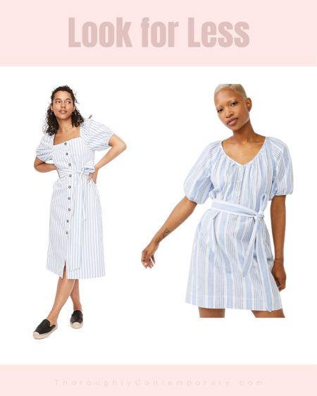I love both of these really similar dresses from J Crew and Walmart (and I own the Walmart dress). The J Crew dress is currently on sale so it's not that much more at the moment! Both are such great blue and white summer dresses.   #LTKsalealert #LTKSeasonal #LTKunder50