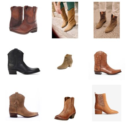 Rounding up some favorite women's cowboy boots! Loving this western trend for fall. Short cowboy boots, ankle boots  #LTKshoecrush #LTKSeasonal