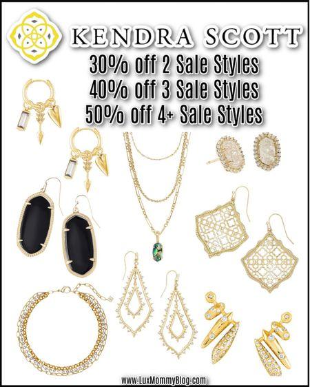 Kendra Scott is having a sale!! 30% off 2 sale styles, 40% off 3 sale styles, and 50% off 4+ sale styles!  #LTKsalealert #LTKunder50 #LTKunder100