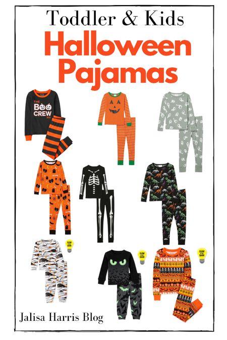 Matching toddler and kids Halloween pajama sets   #LTKkids #LTKbaby #LTKSeasonal