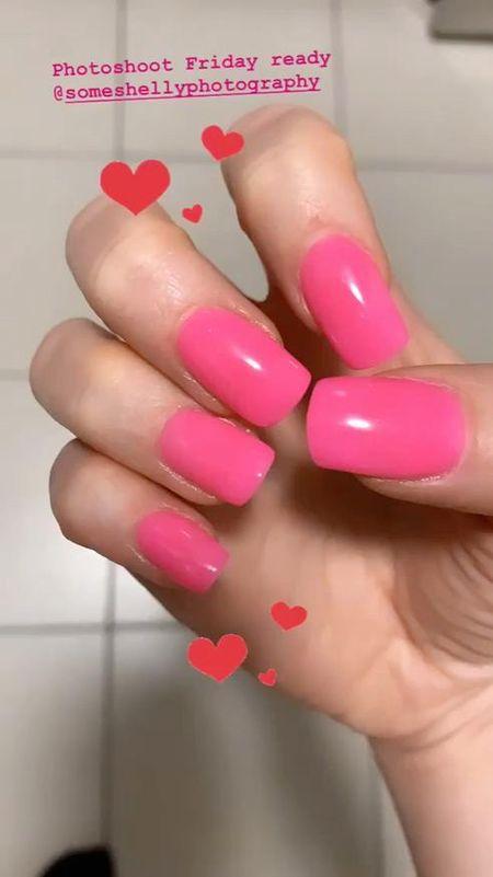 Favorite nail products  Hot pink acrylics   #LTKunder50 #LTKunder100 #LTKbeauty