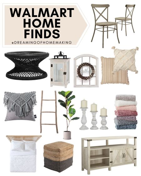 Walmart home finds!!  Dreaming of Homemaking | #DreamingofHomemaking   #LTKwedding #LTKunder100 #LTKhome
