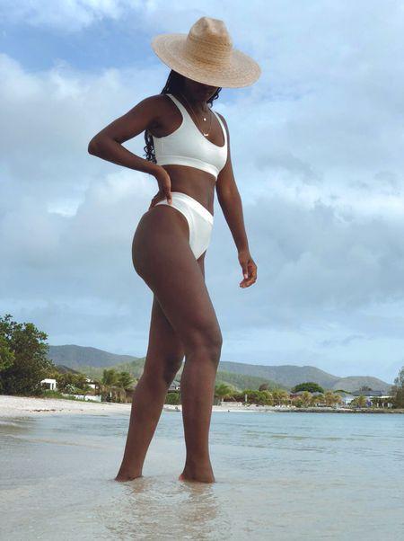 Swim, hats, beach wear, swimwear, resort wear, two piece  #LTKswim #LTKSeasonal #LTKunder50
